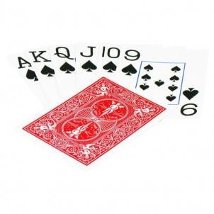 Bicycle Rider Jumbo pokerio kortos (Raudonos) Žaidimai, kortos