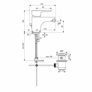 Bidė maišytuvas Ideal Standard Ceraplan III Bide maišytuvai