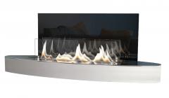 Bio židinys Ebios-fire Elipse Wall Mini, nerūdijančio plieno