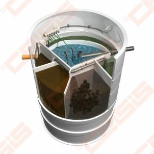 Biologinis buitinių nuotekų valymo įrenginio komplektas AUGUST AT-6, našumas 0,54 m³/d, orapūtė komplekte Nuotėkų valymo įrenginiai