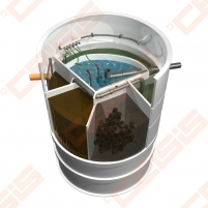 Biologinis buitinių nuotekų valymo įrenginio komplektas AUGUST AT-8, našumas 0,81 m³/d, orapūtė komplekte Nuotėkų valymo įrenginiai