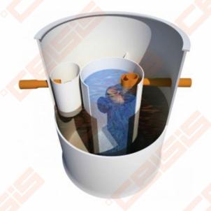 Biologinis buitinių nuotekų valymo įrenginio komplektas AUGUST ATCP-6, našumas 0,9 m³/d, orapūtė komplekte Nuotėkų valymo įrenginiai