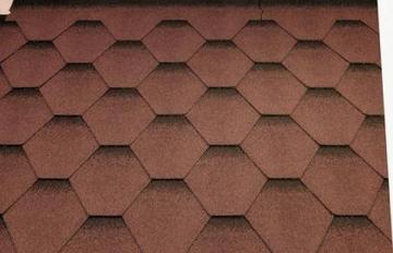 Bitumen roof shingles Super KATRILI autumn red