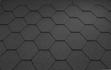 Bitumen roof shingles Super KL black