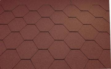 Bitumen roof shingles Super KL red