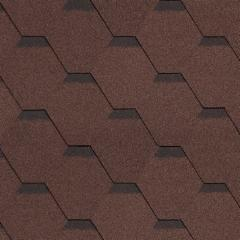 Bitumen roof shingles ROOFSHIELD, brown with shadow