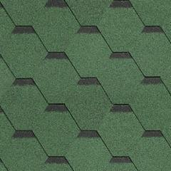 Bitumen roof shingles ROOFSHIELD, green with shadow Bitumen roof shingles (tiles)