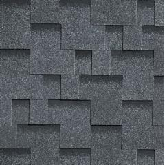 Bitumen Roofing Shingles,flexible AKORDAS DŽAIVAS, grey