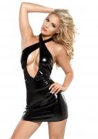 Blizgi mini sukryžiuota suknelė Xl erotica