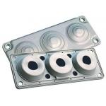 Blokas sandariklių, 7 kabeliams, IP65/IP54, kabelių pajungimas 1x30-60mm; 2x24-54mm; 4x8-16mm, MC-3, Multigate 100234