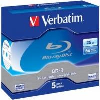 BluRay BD-R Verbatim [ jewel case 5 | 25GB | 6x | Scratchguard Plus ]