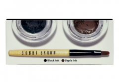 Bobbi Brown Long-Wear Gel Eyeliner Set Cosmetic 6g Black&Sepia Akių pieštukai ir kontūrai