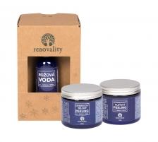 Body Peeling Lavender 200 g+Peeling Lavender 100 g+Rose Water 100 ml Body scrubs