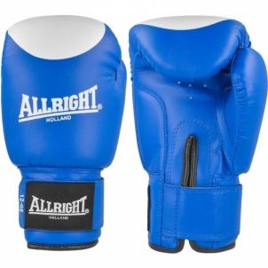 Bokso pirštinės Allright PVC 12oz mėlyna-balta Boxing gloves