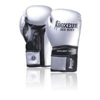 Bokso pirštinės BOXEUR BXT-5195, sidabrinės Bokso pirštinės