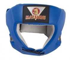 Bokso šalmas Matsuru PU mėlynas M Bokso priedai