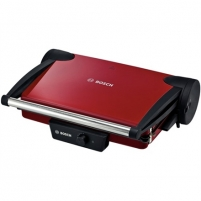 Bosch TFB4402V Contact Grill, Grilling plates with non-stick coating, Power 1800W, Red/Anthracite Griliai kepsninės