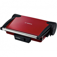 Bosch TFB4402V Contact Grill, Grilling plates with non-stick coating, Power 1800W, Red/Anthracite Grills