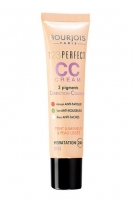 BOURJOIS Paris 123 Perfect CC Cream Cosmetic 30ml 33 Rose Beige Makiažo pagrindas veidui