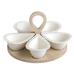 Brandani kabaretas iš porceliano (5 dalių) Vases, fruit