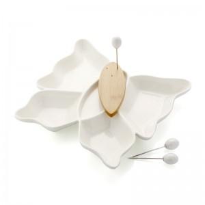 Brandani kabaretas iš porceliano Drugelis Vases, fruit