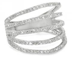 Brilio Silver sidabrinis žiedas su cirkoniu 31G3098 (Dydis: 58 mm)