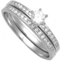 Brilio Silver sidabrinių žiedų komplektas 31G3038 (Dydis: 58 mm)