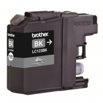 Brother LC123BK, Black Ink Cartridge 600 pages