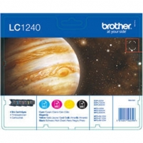 Brother LC1240, Value Ink Cartridge, 3 C, Y, M +1 black