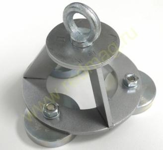 Buitinis gaudymo magnetas МАГНИТ ЛОВИЛЬНЫЙ БЫТОВОЙ ТРЕХОСНЫЙ Super strong retrieving magnet Metāla detektori un piederumi