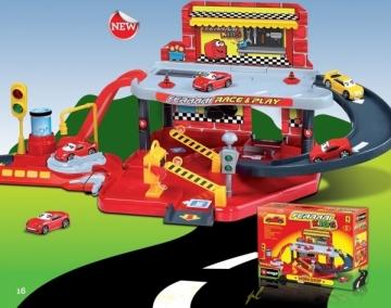 BURAGO AUTOSERVISAS - garažas su garsu 31257 WORKSHOP GARAGE Automobilių lenktynių trasos vaikams
