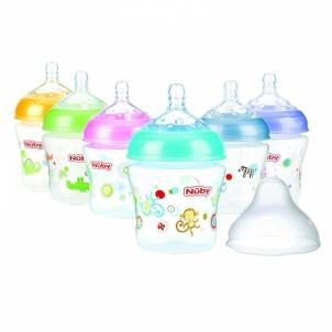 Buteliukas Nuby Allround Printed Bottle 180ml (slow flow) Of infants