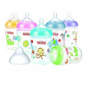 Buteliukas Nuby Allround Printed Bottle 270ml (slow flow) Kūdikių maitinimui