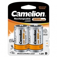 Camelion Rechargeable Batteries Ni-MH D size (R20), 2500 mAh, 2-pack Camera chargers/batteries