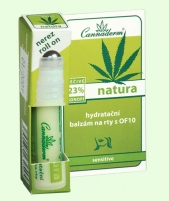 Cannaderm Natura Moisturizing Lip Balm OF10 Cosmetic 5ml Blizgesiai lūpoms