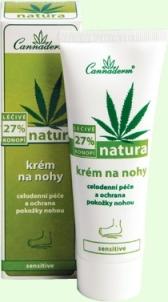 Cannaderm Natura Feet Cream Cosmetic 75g Kojų priežiūros priemonės