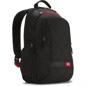 Case Logic DLBP114K Notebook Sporty Backpack/ For 14''/ Polyester/ Black/ For (24.3 cm x 34.3 cm x 4 cm) Krepšiai ir dėklai