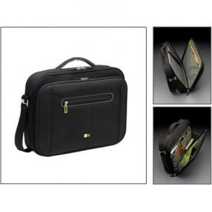 Case Logic PNC218 Laptop Briefcase for 17-18''/ Nylon/ Black-Green/ For (48.0 x 5.0 x 34.5cm)