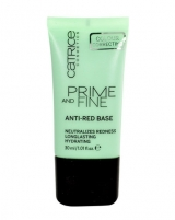 Catrice Prime And Fine Anti-red Base Cosmetic 30ml Maskuojamosios priemonės veidui
