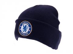 Chelsea F.C. atlenkta žieminė kepurė (Tamsiai mėlyna)