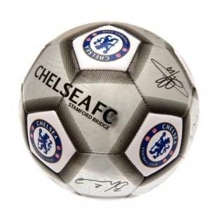 Chelsea F.C. futbolo kamuolys (Autografai. Pilkas)