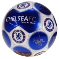 Chelsea F.C. futbolo kamuolys (Mėlynas su parašais) Sirgalių atributika