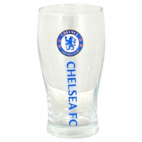 Chelsea Wordmark Crest Pint Glass F.C. Wordmark taurė
