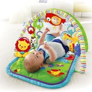 CHP85 FISHER-PRICE 3-in-1 Musical Activity Gym Fisher-Price žaidimų kilimėlis Saugiai kūdikystei