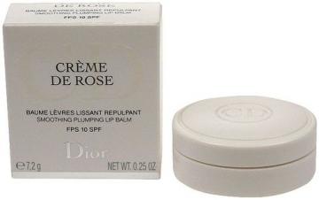 Christian Dior Creme De Rose Plumping Lip Balm SPF10 Cosmetic 7,2g Blizgesiai lūpoms