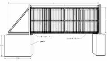 Stumdomi vartai 1500x8000 cinkuoti