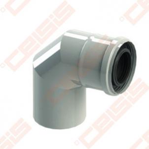 Cinkuoto plieno ir polipropileno 90° elbow JEREMIAS TW-PL64 Dn80/125
