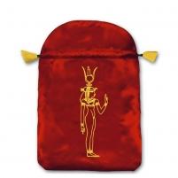 Cleopatra satininis raudonas maišelis kortoms
