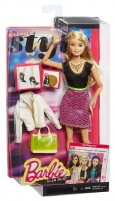 CLL34 / CLL33 Barbie Style Glam Doll with Black/Pink Leopard Print Dress Žaislai mergaitėms