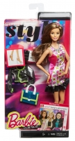 CLL35 / CLL33 Barbie Style Glam Doll with Pink Retro Print Dress Toys for girls